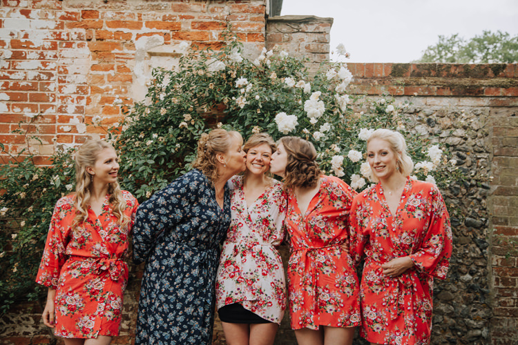 Floral Dressing Gowns Bride Bridesmaids Orange Country Barn Wedding http://www.meganduffield.com/ Country Barn Wedding http://www.meganduffield.com/