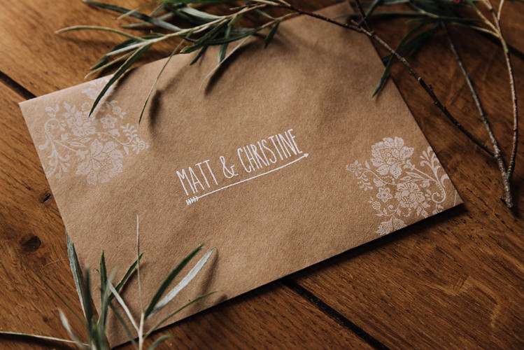 Kraft Brown Envelope Stationery Orange Country Barn Wedding http://www.meganduffield.com/