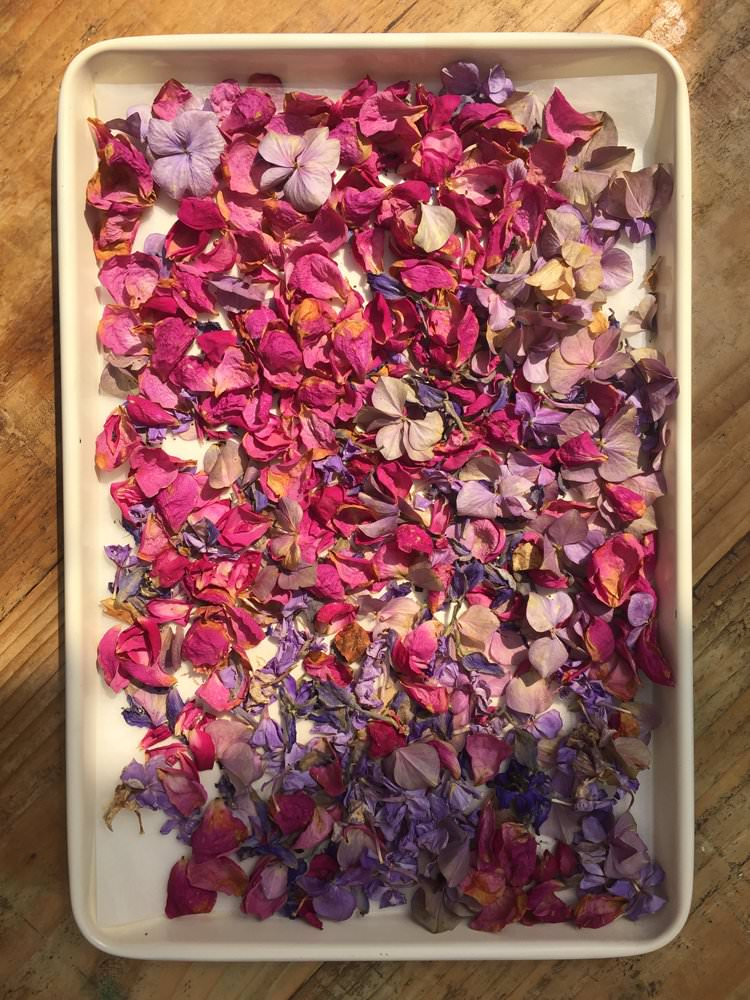 Confetti DIY How To Wedding Petal Flower Drying Tutorial