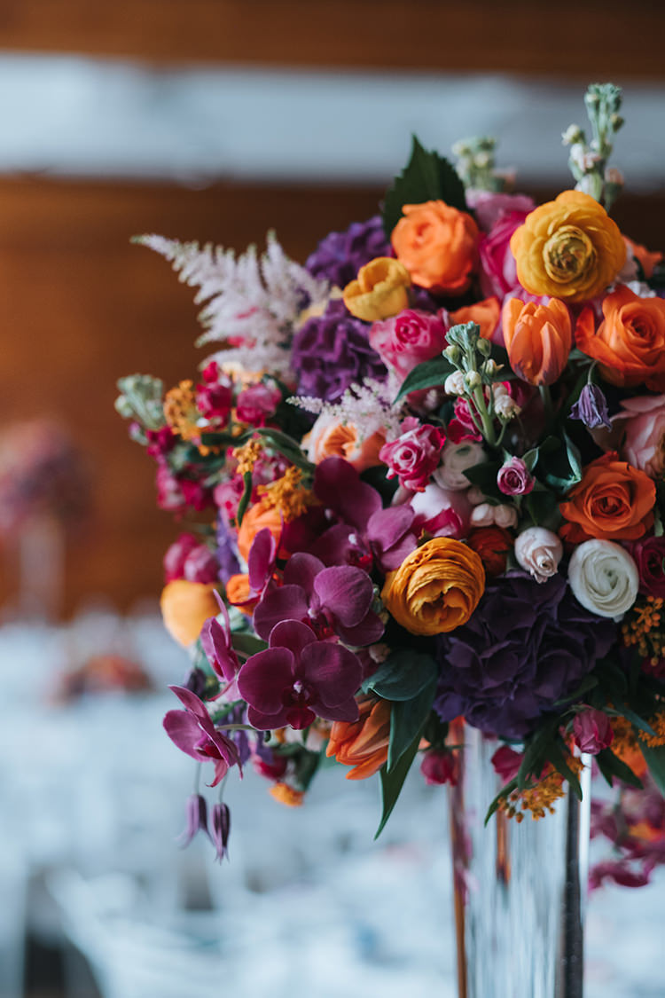 Flowers Floral Multicolour Colourful Purple Orange Pink Rose Peony Stocks Modern Artistic Colour Pop City Wedding http://missgen.com/
