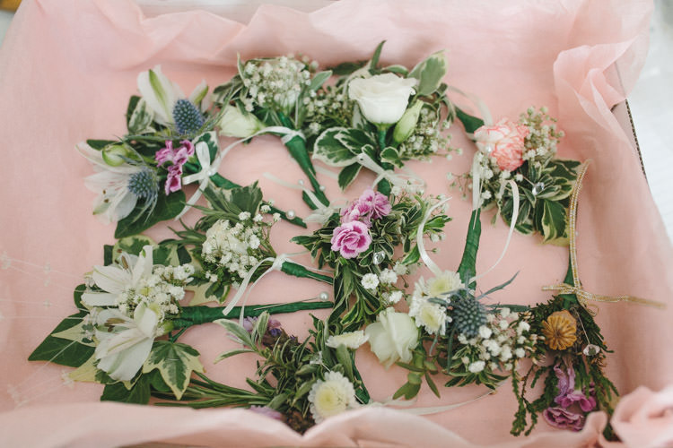 Bridesmaid Posy Bouquet Flowers Happy DIY Woodland Wedding http://www.elliegracephotography.co.uk/