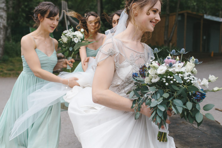 Bouquet Flowers Eucalyptus Bride Bridal Happy DIY Woodland Wedding http://www.elliegracephotography.co.uk/
