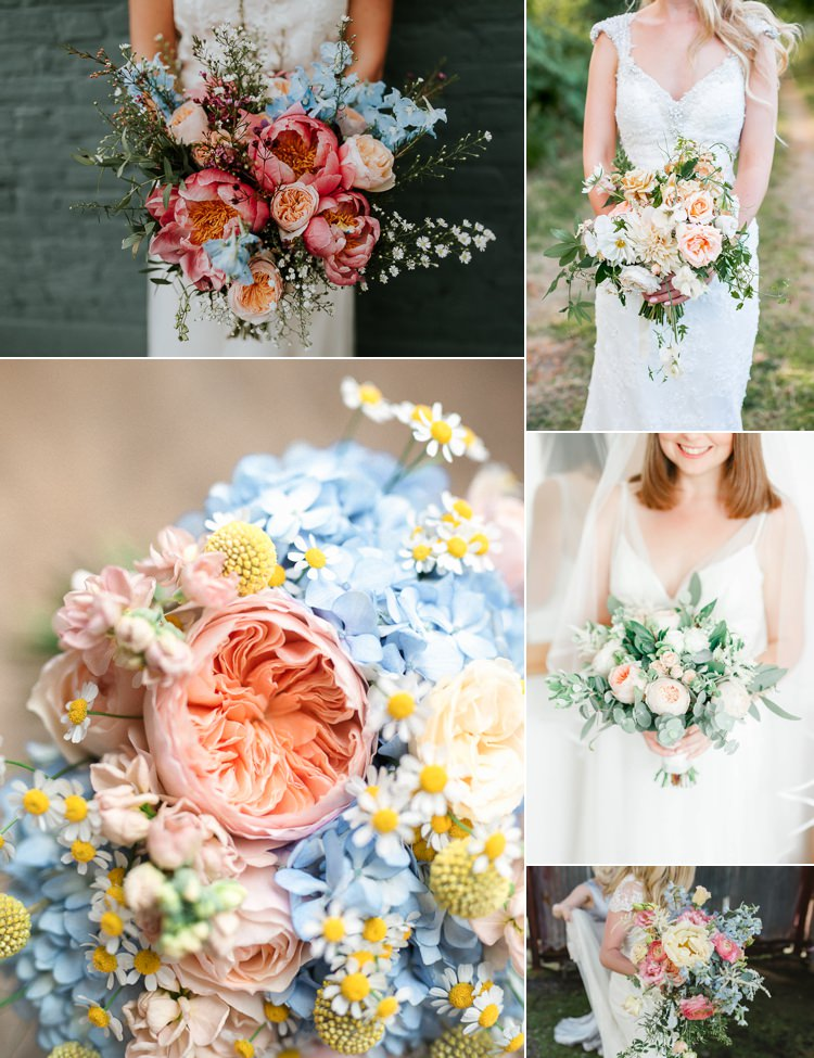 Pastel Wedding Flowers Trends Bouquets 2018