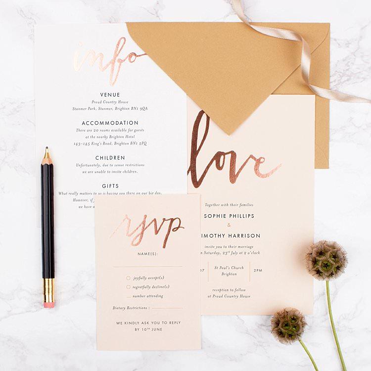 1 Wedding Invitation 10 Ways Ultimate Bespoke Stationery Rosemood Invites