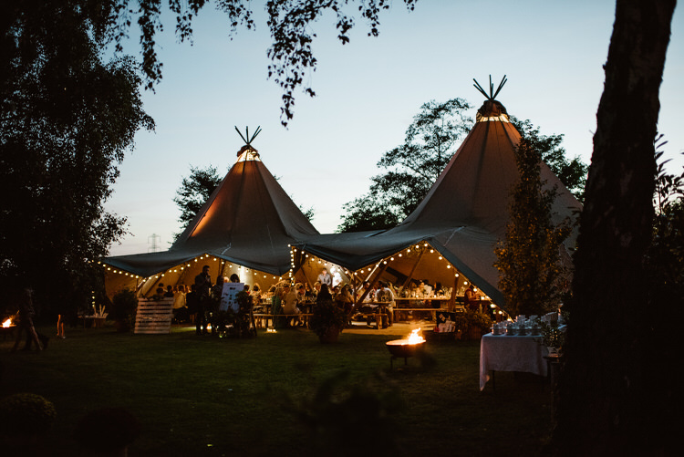 Tipi Festoon Lights Fairy Evening Vegan Handfasting Summer Garden Party Wedding https://www.elliegillard.co.uk/