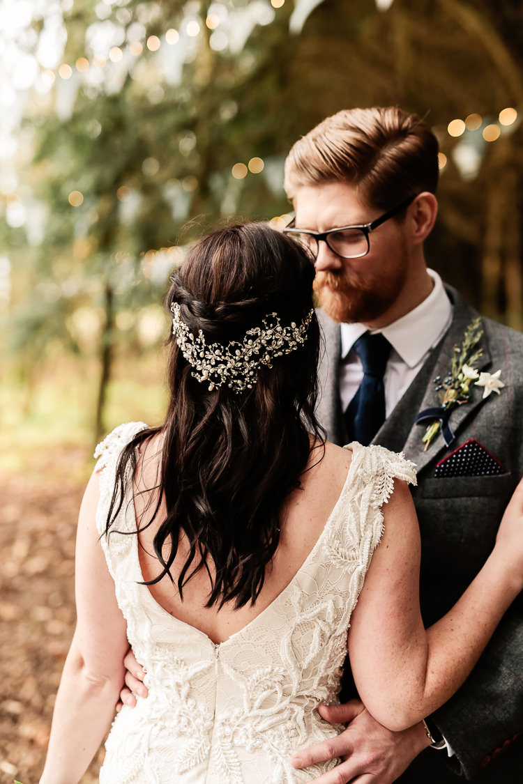 Hair Bride Bridal Plait Braid Magical Fairy Lit Blue Gold Winter Wedding Ideas https://sarahbrookesphotography.com/