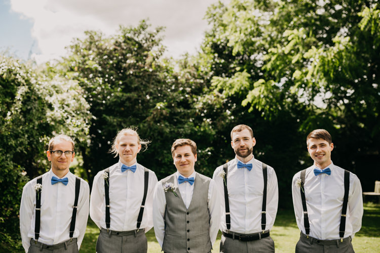Braces Suspenders Bowties Groomsmen Groom Grey Country | Rustic Relaxed Cornflower Blue Barn Wedding http://www.peterhugophotography.com/