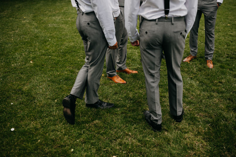 Groom Groomsmen Informal Outdoors Intimate Fun Prep | Rustic Relaxed Cornflower Blue Barn Wedding http://www.peterhugophotography.com/