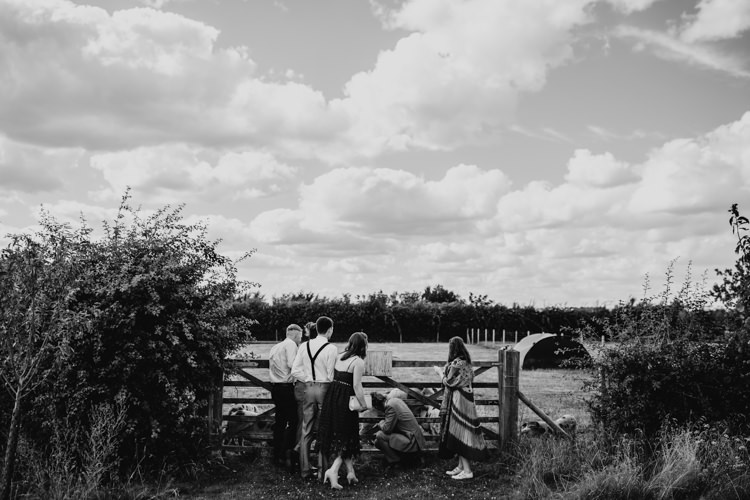 Farm Animals Outdoor Garden Woodland Countryside Enclosure | Rustic Relaxed Cornflower Blue Barn Wedding http://www.peterhugophotography.com/