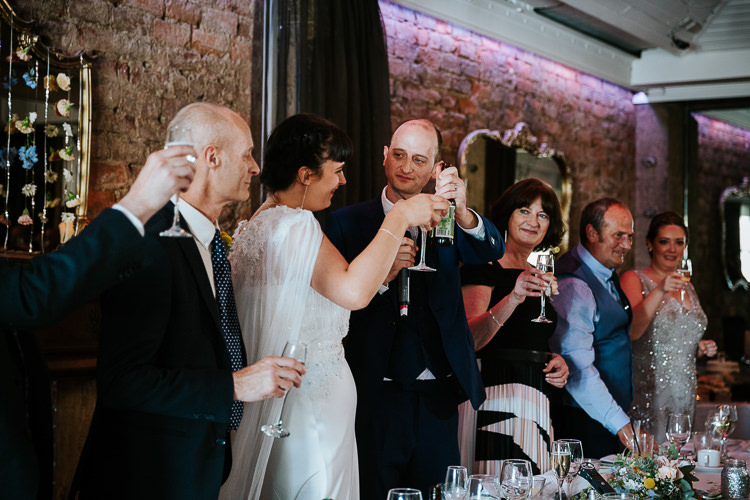 Bride Groom Toasts Speeches Fun Informal Relaxed | Glitter Dinosaurs City Wedding https://struvephotography.co.uk/