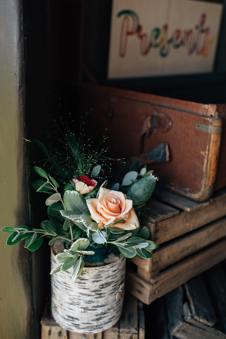 Log Bark Flowers Festival Bohemian Glamping Wedding https://theshannons.photography/