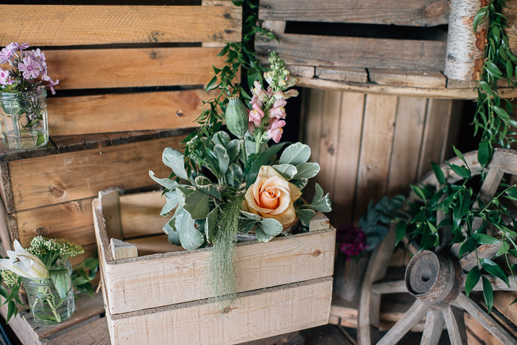 Wooden Box Flowers Festival Bohemian Glamping Wedding https://theshannons.photography/