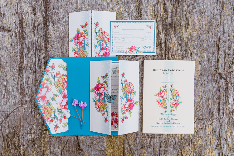 Stationery Floral Colourful Creative Vintage Railway Wedding http://joemallenphotography.co.uk/