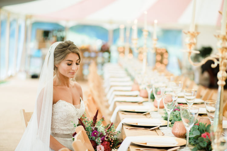 Red Gold Decor Tables Candelabras Outdoorsy Late Summer Marquee Wedding Ideas http://www.esmefletcher.com/