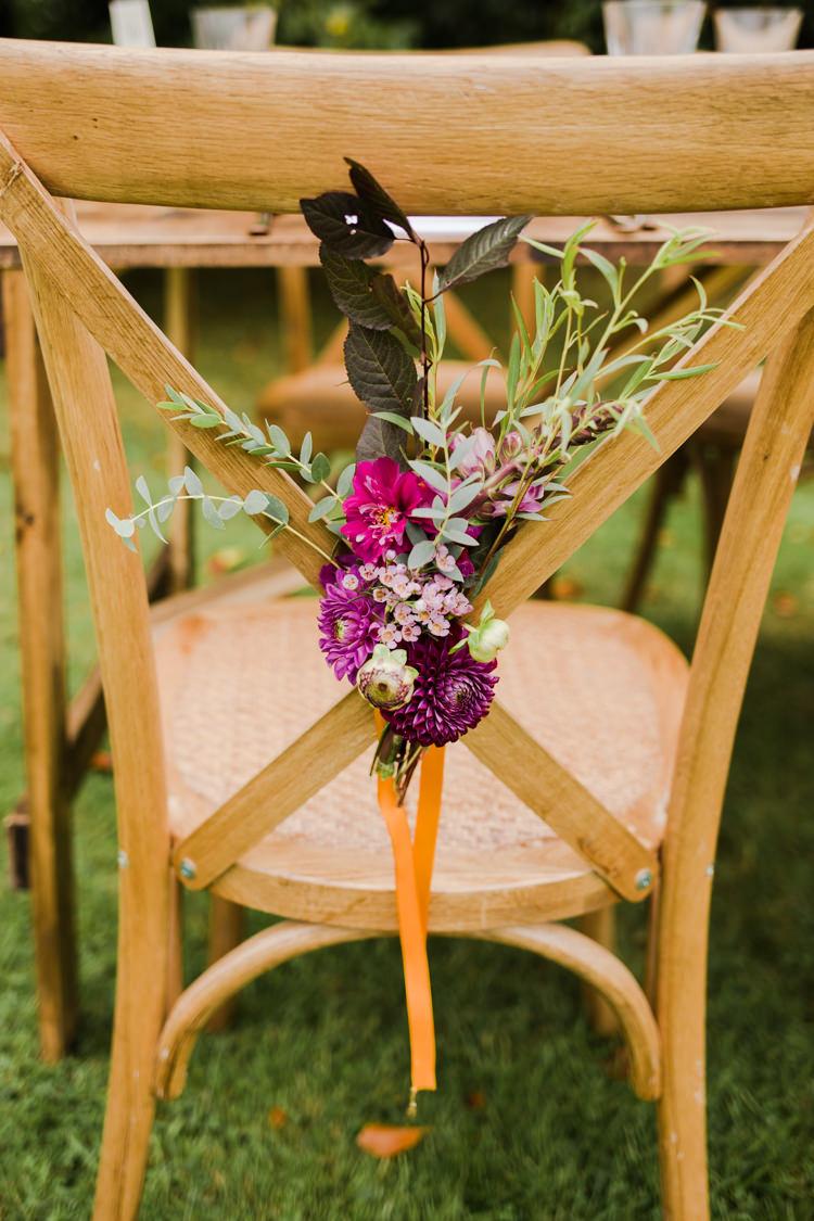 Chairs Flowers Decor Red Purple Plum Outdoorsy Late Summer Marquee Wedding Ideas http://www.esmefletcher.com/