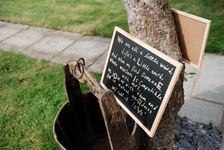 Blackboard Sign Welcome Homemade Street Party Back Garden Wedding http://www.foxmoonphotography.com/