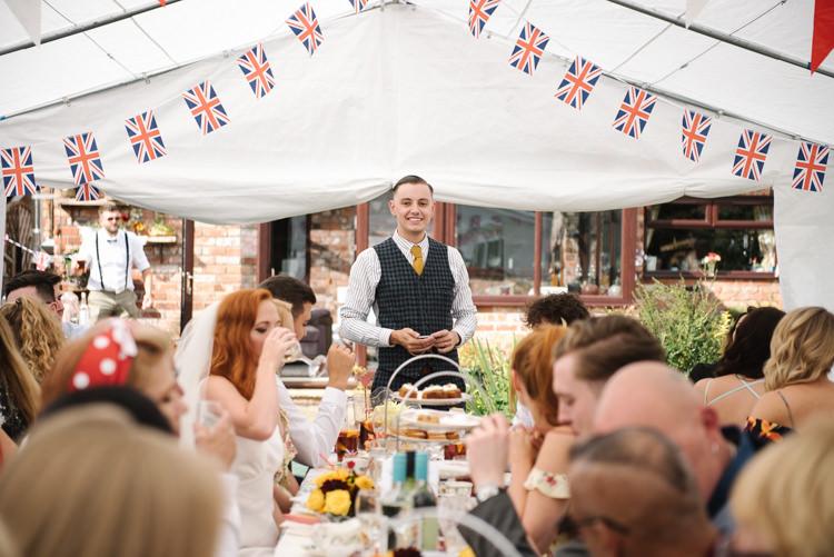 Homemade Street Party Back Garden Wedding http://www.foxmoonphotography.com/