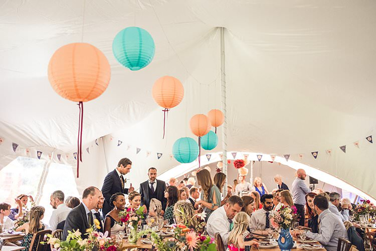 Stretch Tent Marquee Paper Lantern Ribbon Bunting Indie Back Garden Bespoke Party Wedding https://www.babbphoto.com/