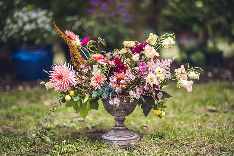 Flowers Floral Urn Wild Indie Back Garden Bespoke Party Wedding https://www.babbphoto.com/