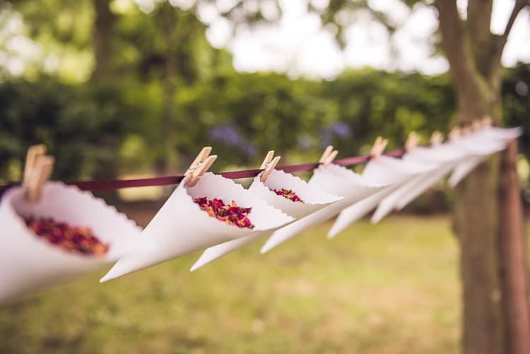 Confetti Cones Pegs Ribbon Indie Back Garden Bespoke Party Wedding https://www.babbphoto.com/