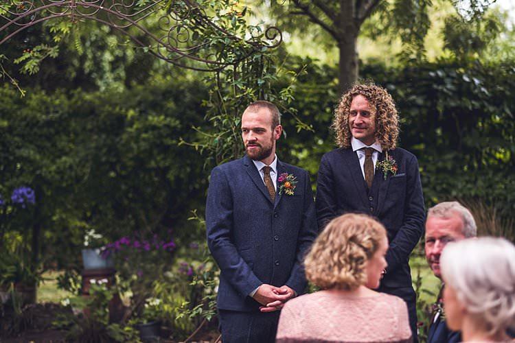 Groomsmen Navy Three Piece Paisley Tie Blue Indie Back Garden Bespoke Party Wedding https://www.babbphoto.com/