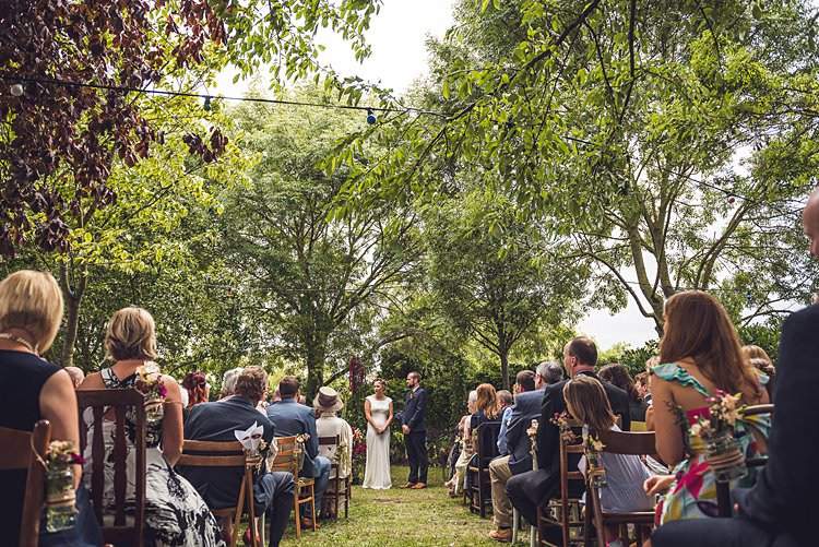 Outdoor Ceremony Mismatched Rustic Vintage Chairs Furniture Indie Back Garden Bespoke Party Wedding https://www.babbphoto.com/