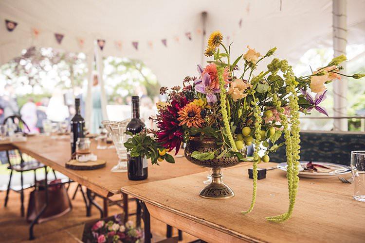 Wild Flower Floral Display Table Centre Urn Indie Back Garden Bespoke Party Wedding https://www.babbphoto.com/