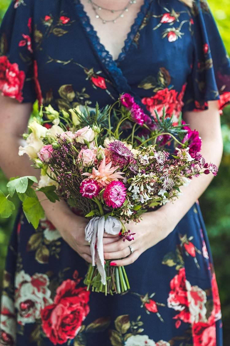 Bridesmaid Bouquet Wild Flower Floral Indie Back Garden Bespoke Party Wedding https://www.babbphoto.com/