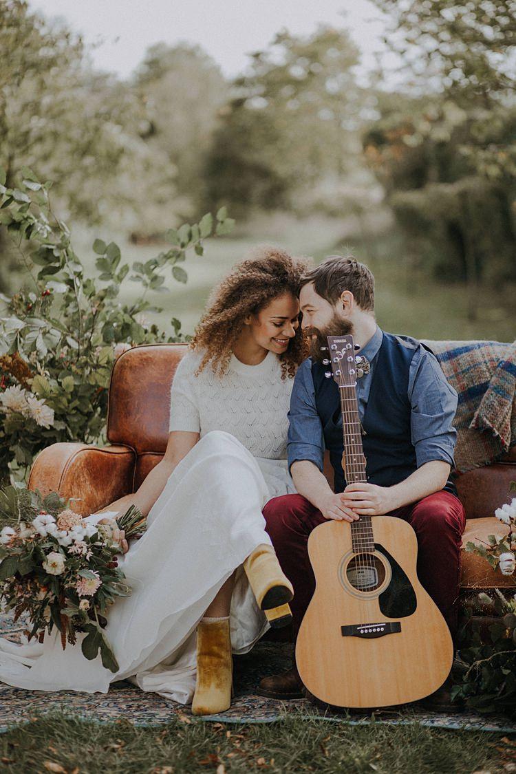 Guitar Music Groom Banquets Bonfires Autumn Wedding Ideas https://lolarosephotography.com/