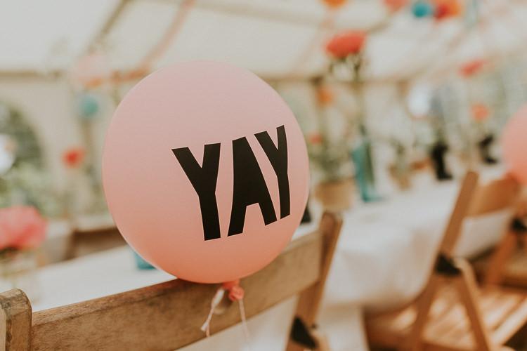 YAY Balloon Chair Back Decor Bright Colourful DIY Back Garden Wedding http://jonnymp.com/