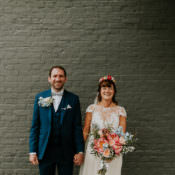 Joyful Bright & Colourful DIY Back Garden Wedding