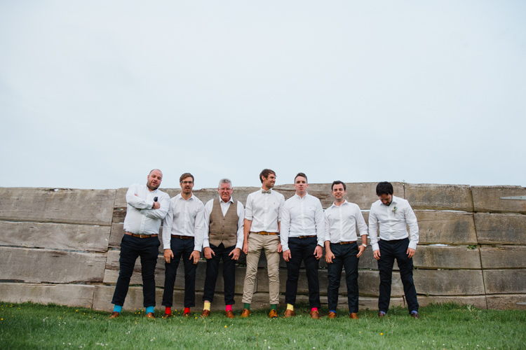 Groom Groomsmen Colourful Socks Style Waistcoat Relaxed Fun Beach DIY Wedding http://www.michellehuggleston.com/