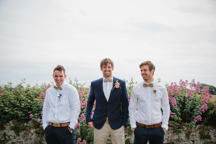 Groom Groomsmen Chinos Bow Tie Relaxed Fun Beach DIY Wedding http://www.michellehuggleston.com/