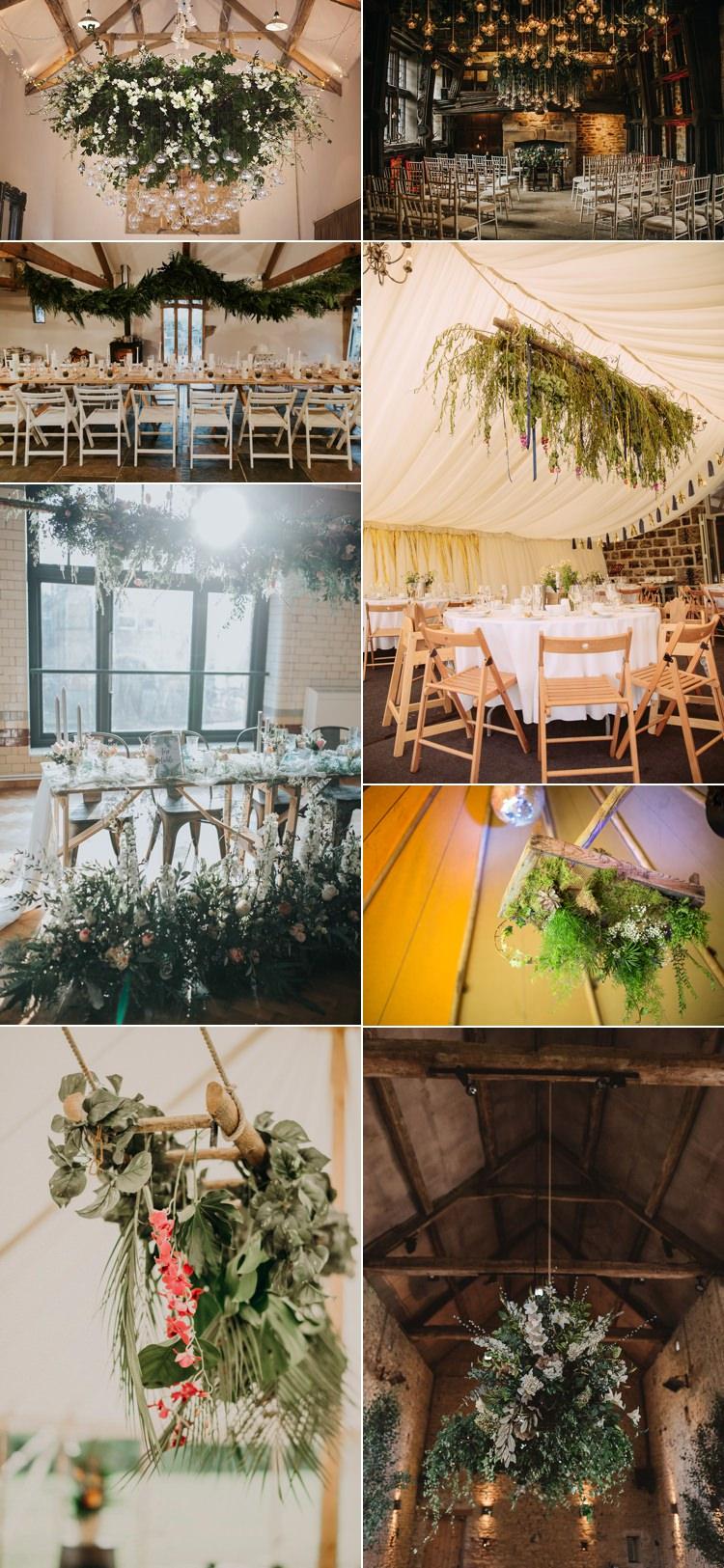 Flower Trends 2018 Wedding Installations Hanging