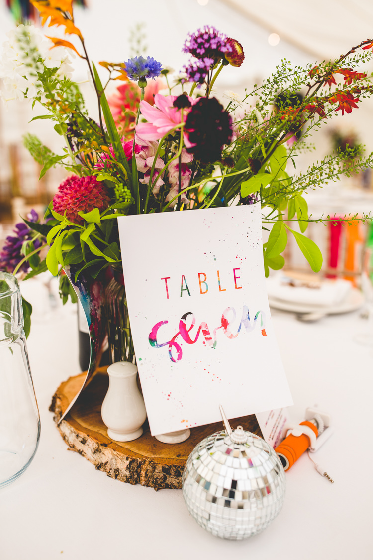 Table Number Stationery Rainbow Farm Creative Wedding http://www.livvy-hukins.co.uk/