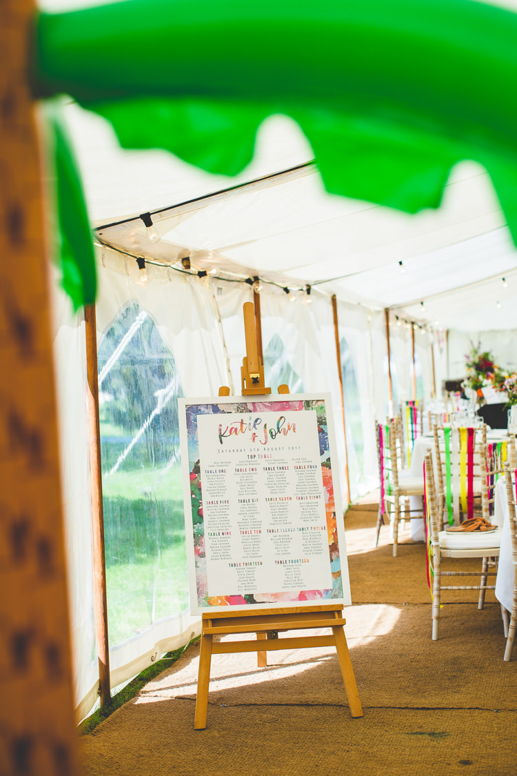 Table Plan Seating Chart Rainbow Farm Creative Wedding http://www.livvy-hukins.co.uk/