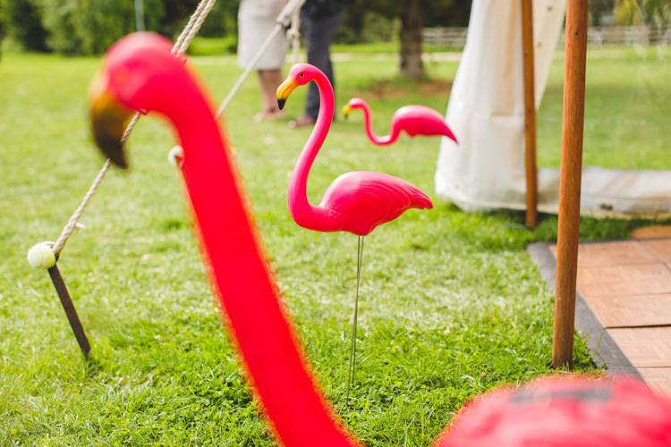 Flamingos Rainbow Farm Creative Wedding http://www.livvy-hukins.co.uk/