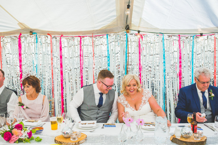 Silver Streamer Backdrop Rainbow Farm Creative Wedding http://www.livvy-hukins.co.uk/