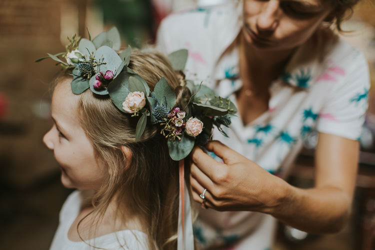Flower Girl Crown Headdress Sperry Tent Marquee Farm Wedding http://www.paulunderhill.com/
