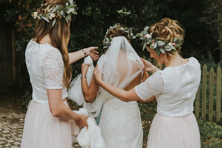 Flower Crowns Bridesmaids Sperry Tent Marquee Farm Wedding http://www.paulunderhill.com/
