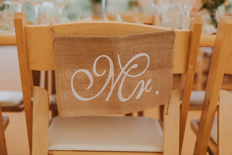 Hessian Burlap Chair Sign Decor Sperry Tent Marquee Farm Wedding http://www.paulunderhill.com/