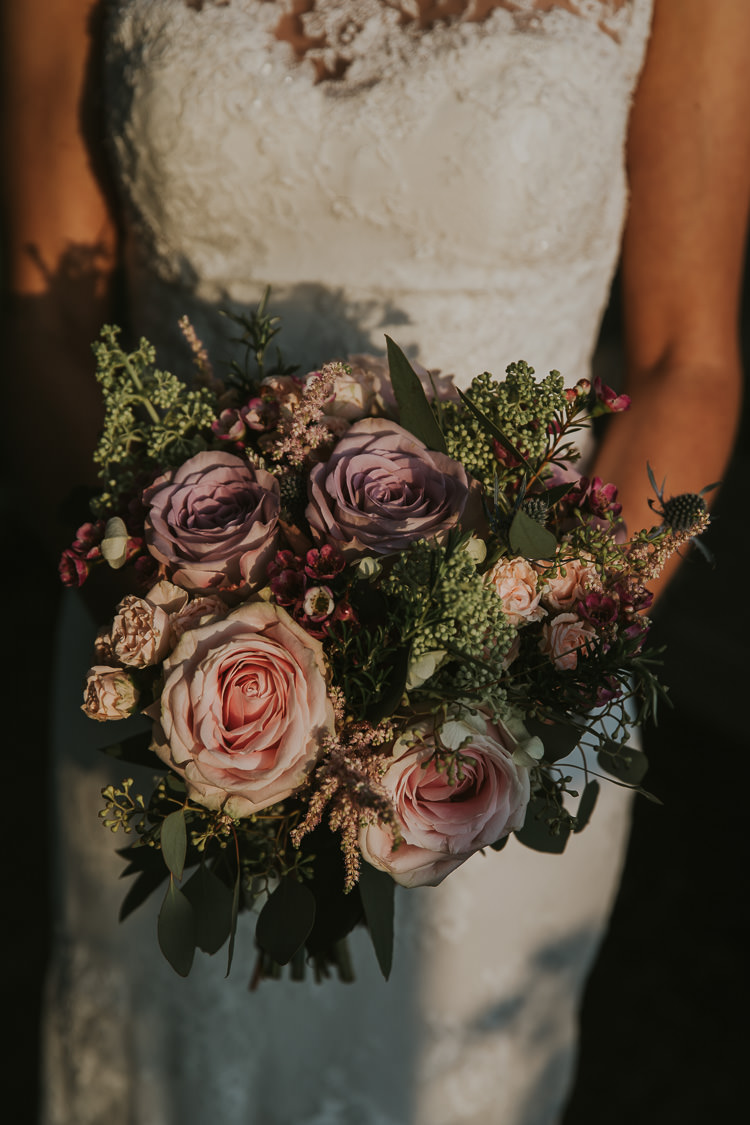 Pink Lilac Rose Bouquet Bride Bridal Flowers Sperry Tent Marquee Farm Wedding http://www.paulunderhill.com/