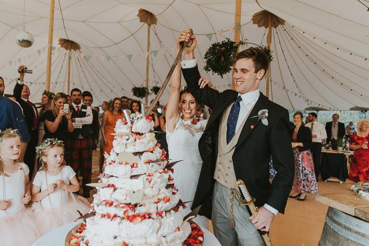 Pavlova Cake Dessert Sperry Tent Marquee Farm Wedding http://www.paulunderhill.com/