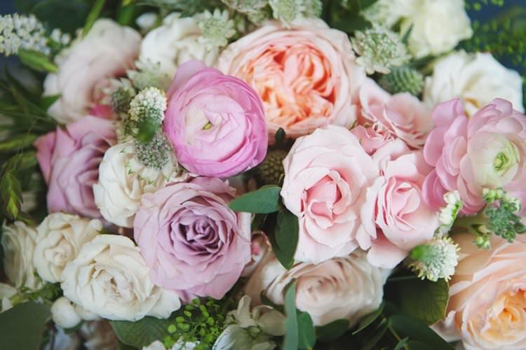 Pink Blush Pastel Peach Flowers Floral Elegant DIY Country Manor Wedding http://www.bengoode.com/