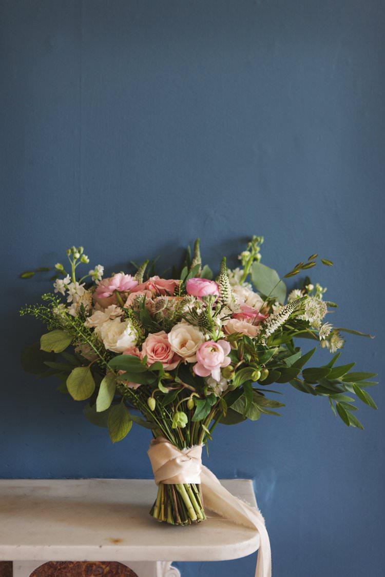 Bride Bridal Bouquet Pink Pastel Silk Ribbon Elegant DIY Country Manor Wedding http://www.bengoode.com/