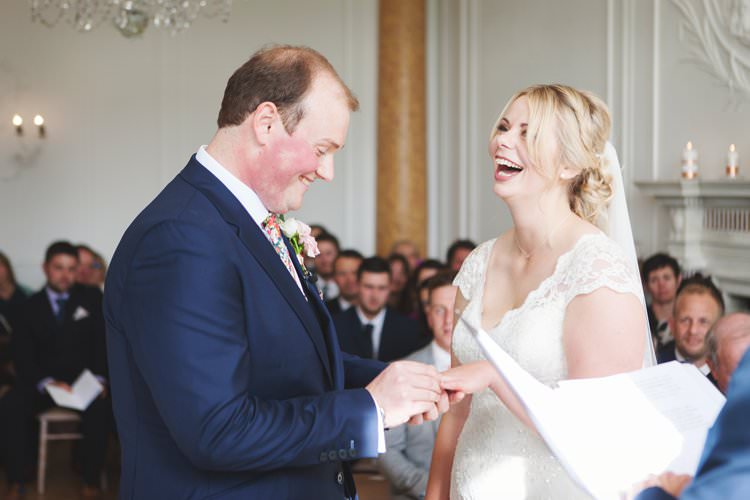 Bridal Bride Dress Gown Veil V Neck Lace Reiss Groom Elegant DIY Country Manor Wedding http://www.bengoode.com/