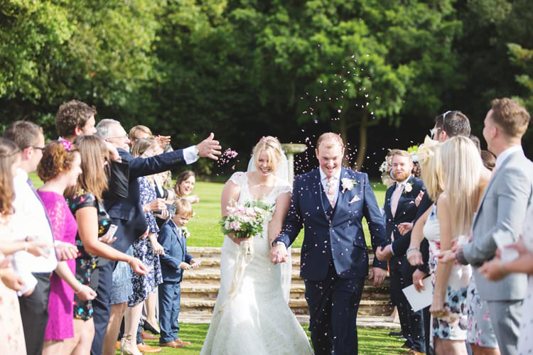 Bridal Bride Dress Gown Veil V Neck Lace Reiss Groom Confetti Elegant DIY Country Manor Wedding http://www.bengoode.com/