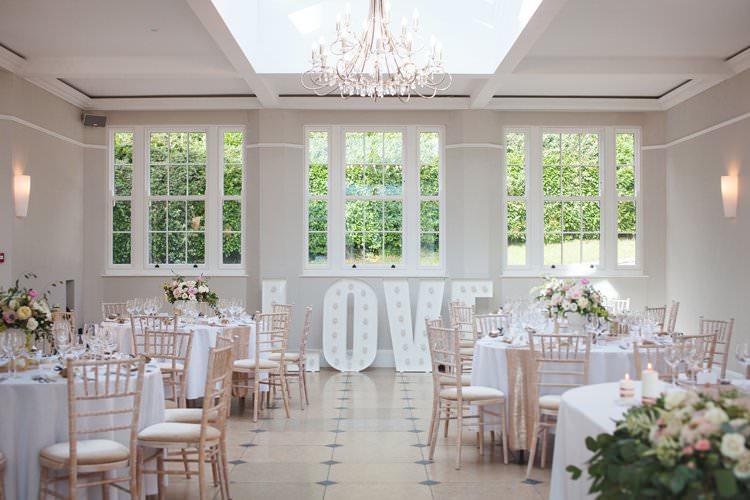 LOVE Light Up Letters Elegant DIY Country Manor Wedding http://www.bengoode.com/