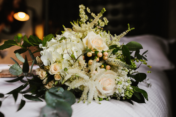 Bouquet Flowers Bride Bridal Eucalyptus Rose Astilbe White Green Fun Town Hall Countryside Gardens Cat Wedding http://www.allymphotography.com/
