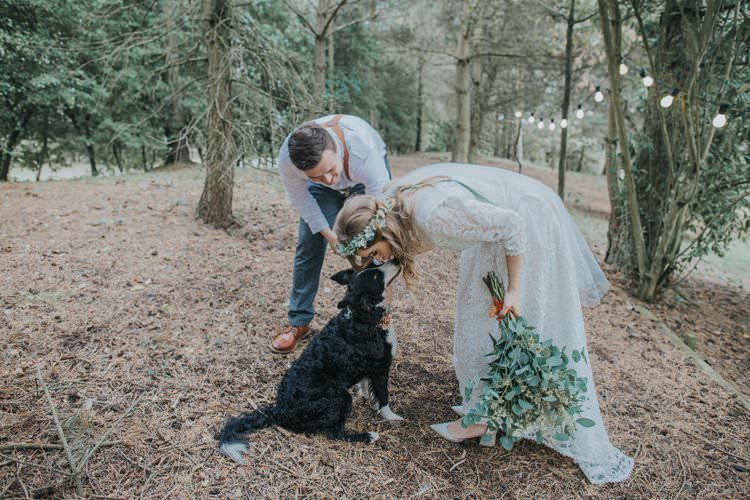 Dog Pet Whimsical Green Copper Rustic DIY Wedding http://www.brookrosephotography.co.uk/